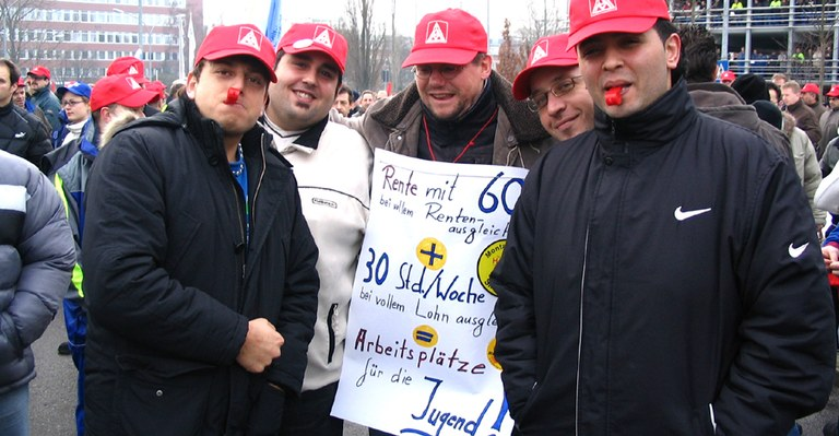 2007 - Daimler-Arbeiter gegen Rente mit 67