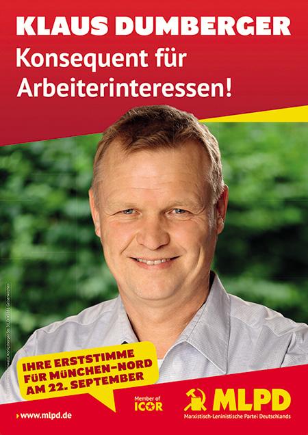 Klaus Dumberger Wahlplakat