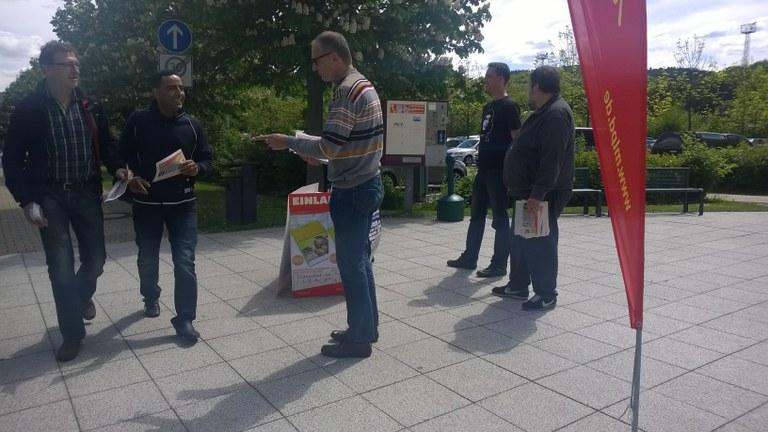 Erfolgreiche Wahlkundgebung vor Opel in Eisenach - versuchte Wahlbehinderung bei Audi Neckarsulm ging in die Hose
