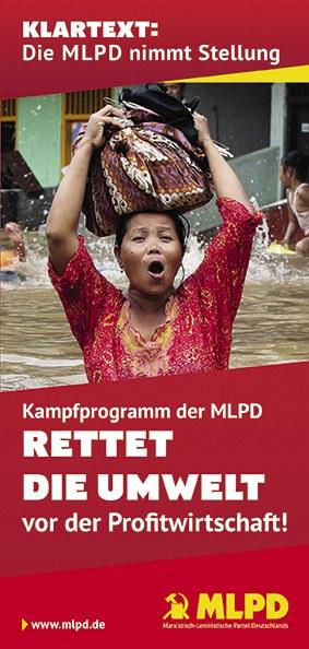 Kampfprogramm der MLPD: Rettet die Umwelt vor der Profitwirtschaft!