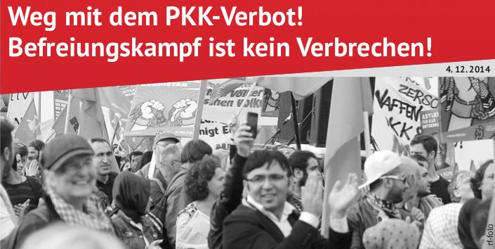 MLPD protestiert gegen Verbot der Großdemonstration gegen das PKK-Verbot am 6. Dezember in Köln