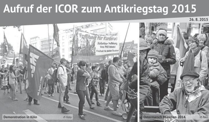Aufruf der ICOR zum Antikriegstag 2015 erschienen