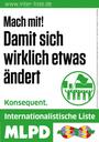 Auffallend in NRW: 45.000 Wahlplakate der INTERNATIONALISTISCHEN LISTE/MLPD