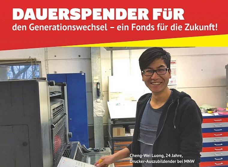Dauerspender für  den Generationswechsel – ein Fonds für die Zukunft!