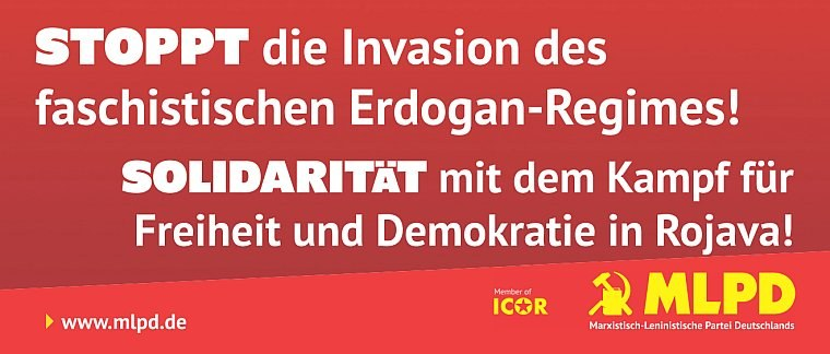 Neues Transparent gegen die Invasion des faschistischen Erdugan Regimes