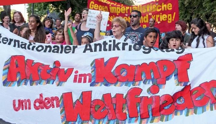 Ostermarsch 2018:  Stoppt alle imperialistischen Kriegsbrandstifter!  Hände weg von Efrîn! Für Frieden, Freiheit – echten Sozialismus!