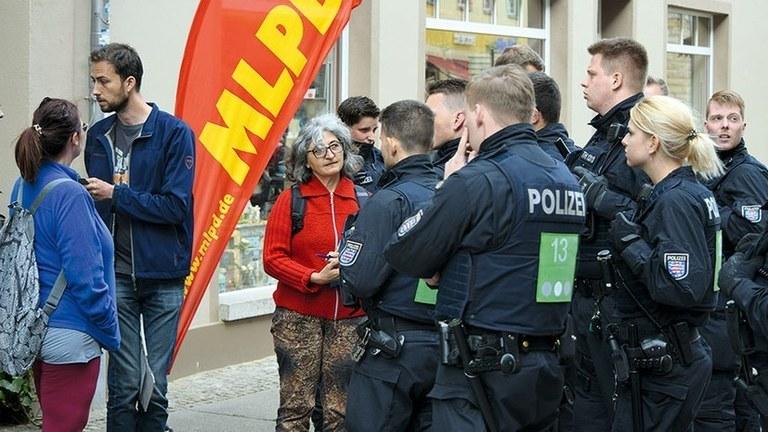 Polizeiattacke an Pfingsten in Truckenthal:  Staatsanwaltschaft macht deutlich, dass es gegen die MLPD und ihre Repräsentanten ging!