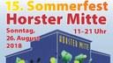 Flyer zum 15. Sommerfest Horster Mitte / Gelsenkirchen