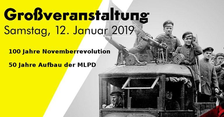 Berlin: Einladungs- und Programmflyer für den 12. Januar