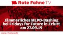 Jämmerliches MLPD-Bashing bei Fridays for Future in Erfurt am 27.09.
