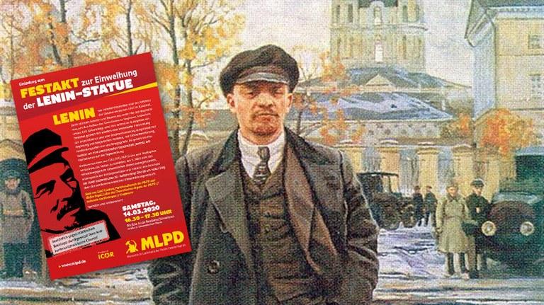 Festakt zur Einweihung der Lenin-Statue
