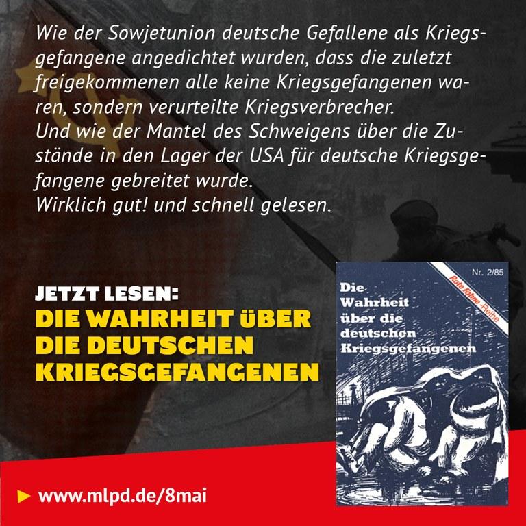 Buchtipp: Die Wahrheit über die deutschen Kriegsgefangenen