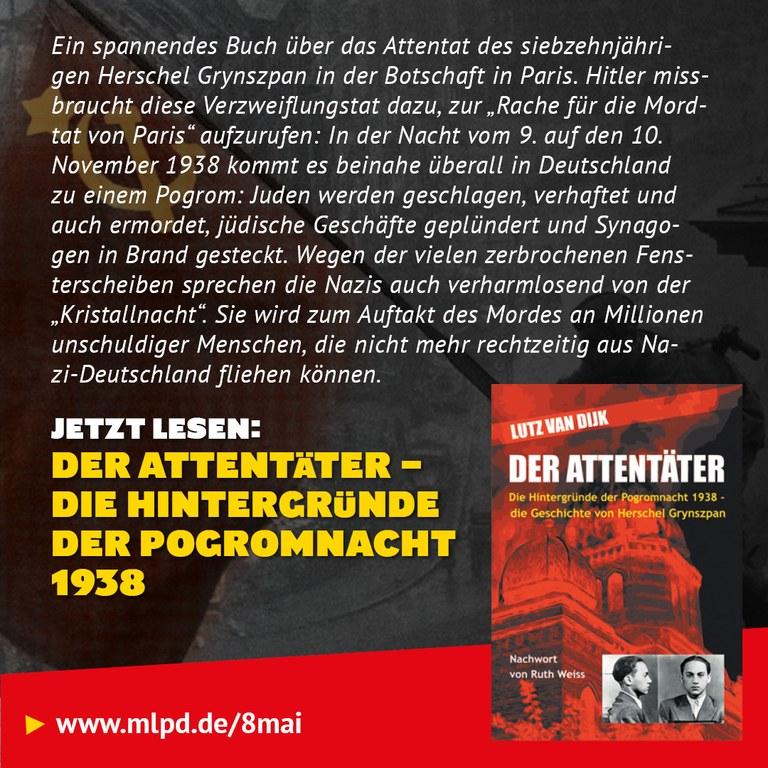 Buchtipp: Der Attentäter - Die Hintergründe der Pogromnacht 1938