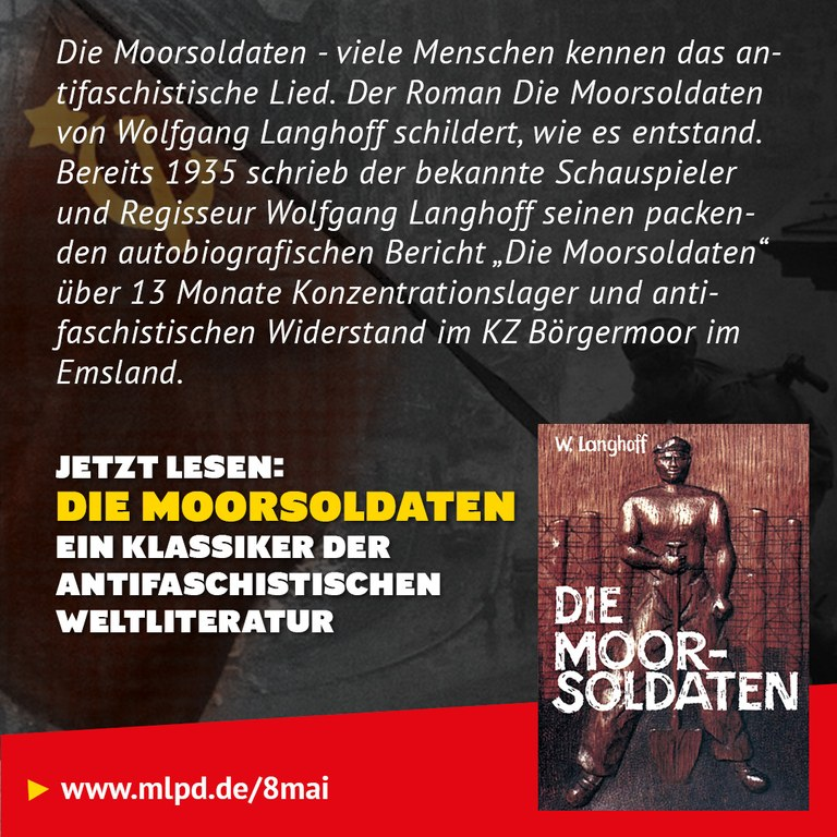 Buchtipp: Die Moorsoldaten ein Klassiker der  antifaschistischen Weltliteratur