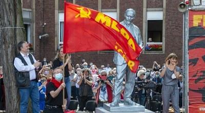 Stefan Engel Rede zur Enthüllung der Lenin-Statue am 20.6.2020 in Gelsenkirchen