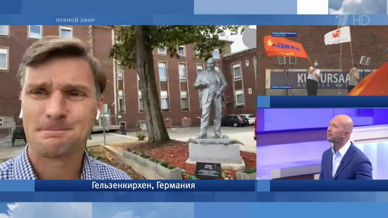 Leninstatue im russischen TV