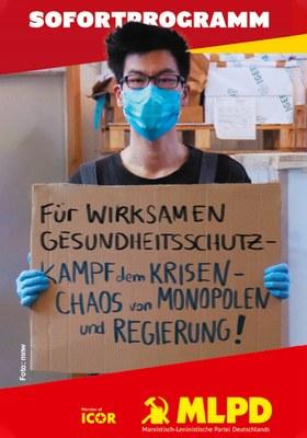 Für wirksamen Gesundheitsschutz – Kampf dem Krisen-Chaos von Monopolen und Regierung!