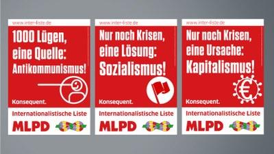 Wahlplakate zur Bundestagswahl