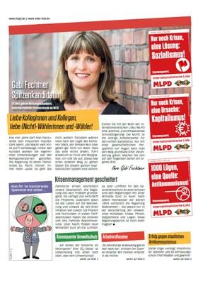 Wahlzeitung der Internationalistische Liste / MLPD