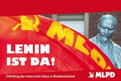 Lenin ist da! Enthüllung der ersten Lenin-Statue in Westdeutschland