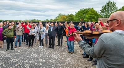 Gedenken an Ernst Thälmann auf der Gedenkstätte Buchenwald