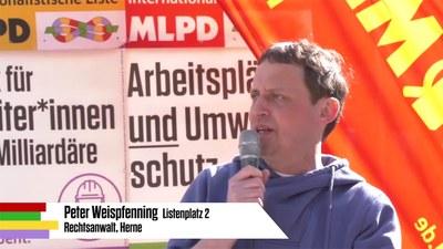 Rede von Peter Weispfenning bei der Auftaktkundgebung zum Wahlkampf